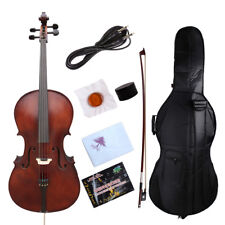 yinfente*Electric Acoustic Cello 4/4 Maple+Spruce Powerful Sound