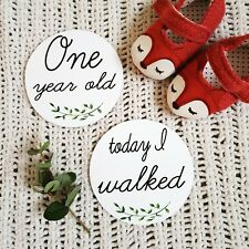 Round Baby Milestone Cards Moments photo prop first year x20
