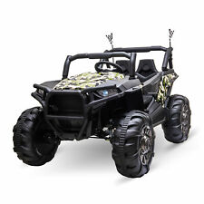 Aosom 12V 2-Seater Kids Electric Ride On Car Off-Road Camouflage UTV Truck Toy