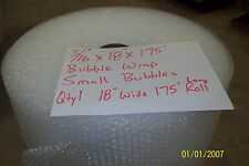 "3/16"" Wp small Bubble Cushioning Wrap Padding Roll 175' x 18"" Wide 175Ft Perf 12"