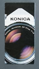 KONICA AUTOREFLEX A CAMERA BROCHURE, EX/133788