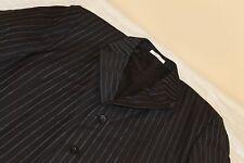 ARNALDO BASSINI Bespoke Navy Striped Suit Blazer Jacket 42 S 100% Wool