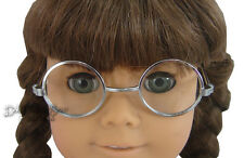 "Silver Tone Wire Rim Eye Glasses fits 18"" American Girl Molly Reproduction"