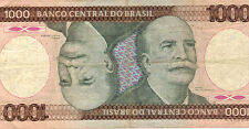 BRAZILIAN 1000 CRUZEIROS - 1986 Issue - RARE