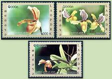 LAOS N°1792/1794**, Fleurs, Orchidées , 2011, Flower, orchids Sc#1841-1843 MNH