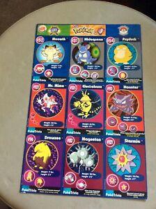 1999 Nintendo Pokemon Uncut Sheet Master Trainer #2 Burger King Promo