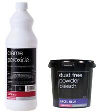 Salon Services Hair Creme Peroxide 7.5% 25 VOL 1 Litre With Blue Powder Bleach