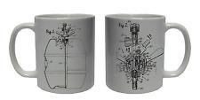 BEER KEG TAP Coffee Mug Tea Cup Ceramic Patent Design Novelty Gift