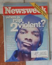 NEWSWEEK November 29, 1999 - Rap, Snoop Dogg
