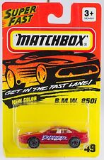 Matchbox MB 49 BMW B M W 850i Red With Skull Tampo New On Card 1995