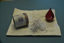 Vintage Metal Spinning Top, string cord, mailing container, instructions