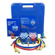 R134a R410a R22 AC A/C Manifold Gauge Set 4FT Colored Hose Air Conditioner