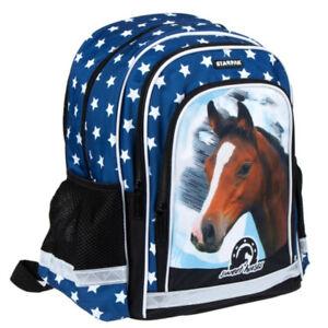 Pferde Horse Rucksack Schulrucksack Tasche Ranze Sterne Schule Einschulung