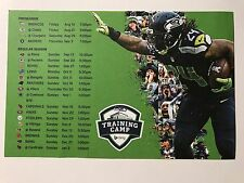 SEATTLE SEAHAWKS 2015 SCHEDULE LITTLE POSTER