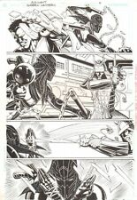 Green Lantern #167 p.4 - Sword Fight - Signed original art by Rick Burchett