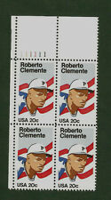 2097 Roberto Clemente Plate Block Mint/nh (Free Shipping)