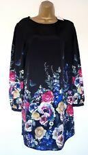 Oasis Dress Sz 16 Nwt! Black Floral Shift Formal