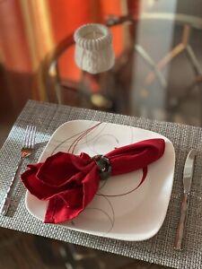 24 Piece Corelle Square Splendor Vitrelle Dinnerware Set Service For 8