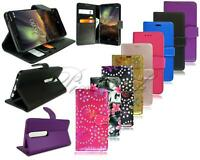 For Nokia 7 New Genuine Black Leather Wallet Phone Case Cover + Tempered Glass