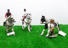 PAPO 52002/3/4+51035/56/117 - 3 coppie di cavalieri a cavallo - ANIMALI CAVALLI