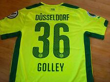 Fortuna Düsseldorf Pokal Trikot gelb #36 Golley 14/15  Match Prepared DFB Patch