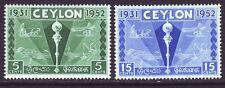 Ceylon 1952 SC 315-316 MH Set Colombo Plan