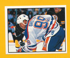 VINTAGE 1988-1989 WAYNE GRETZKY HOF NHL OILERS HOCKEY STICKER PANINI CARD ISSUE