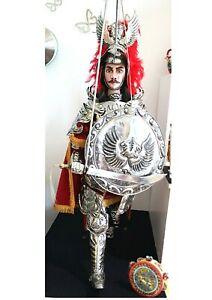 Pupo siciliano Orlando 130 cm marionetta da collezione pupi fatti a mano nuovo