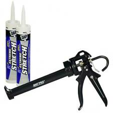Extreme Stretch Caulk Kit, 2 tubes 10 oz Urethanized Sealant, Awf Pro Caulk Gun