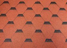 Dachschindeln Hexagonal Dreieck Form 18 m? Ziegelrot (6 Pakete) Schindeln
