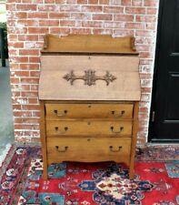 American Antique Oak Larkin Front Drop Desk w. 3 Drawers   Home Office Furniture