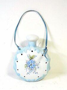 Pomander Potpourri Holder Handpainted Flowers Porcelain