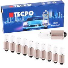 10x TECPO H6W STANDLICHT 12 VOLT 6 WATT BAX9S KFZ AUTOLAMPE GLÜH-BIRNE VORNE