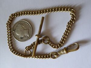 Vintage Pocket Watch Chain and a Queen Victoria Silver Shilling Coin Fob