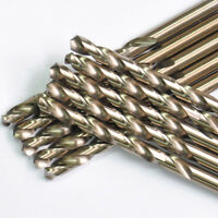 """5/32""""x3-1/8"""" Cobalt Drill Bits Set HSS M35 Jobber Length Metal Drill Bit 10 Pack"""