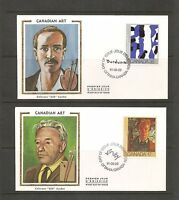 Canada SC # 888-889 Paintings- Canadian Art FDC.Colorano Silk Cachet