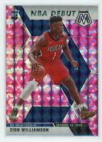 2019-20 ZION WILLIAMSON PANINI MOSAIC NBA DEBUT PINK CAMO ROOKIE RC#269