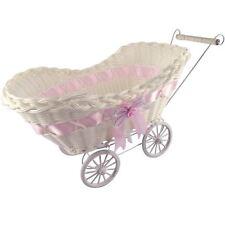 Mini Pram Baby Baskets and Favours! Hamper Shower Stroller Vintage Craft