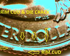 2007P UTAH  CUD & DIE CRACKS  STATE QUARTER  MULTI ERRORS: BU  #2490