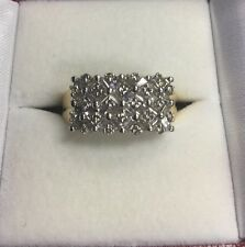 Stunning 14Kt Yellow Gold Baguette And Round Cut Diamond Ring Band
