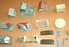 Assembled Plastic KIT Buildings assorted lot - HO Scale