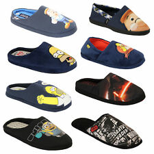 Mens Slippers Homer Simpsons Minions Star Wars Tetley Mule Sandals Novelty Duff