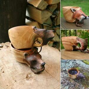 180Ml Hand Carved Cup Scandinavian Kuksa Wooden Mug Camping Gear Coffee Cup
