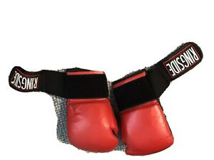 Everlast MMA Women's Gloves - Red and the black pair is Men's