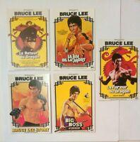 5 Carte postale cinéma d'affiches de film Bruce LEE combat arts martiaux