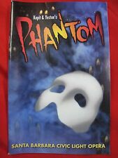 Santa Barbara Civic Light Opera Playbill Program - Kopit & Yeston's PHANTOM 1997