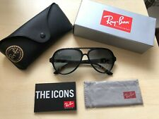 Ray-Ban RB4125 601/32 Cats 5000 Black/Grey Gradient Men's Aviator Sunglasses