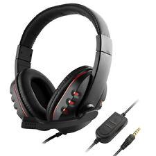 USB Stecker Gaming Headset Over-Ear Kopfhörer mit Mikrofon - Rot