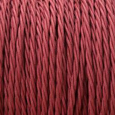 Borgogna Twisted Intrecciato Tessuto Cavo MEX 0.5 mm Per Illuminazione