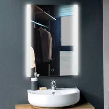 Miroir LED de salle de bains avec éclairage mural, cadre en alliage d'aluminium